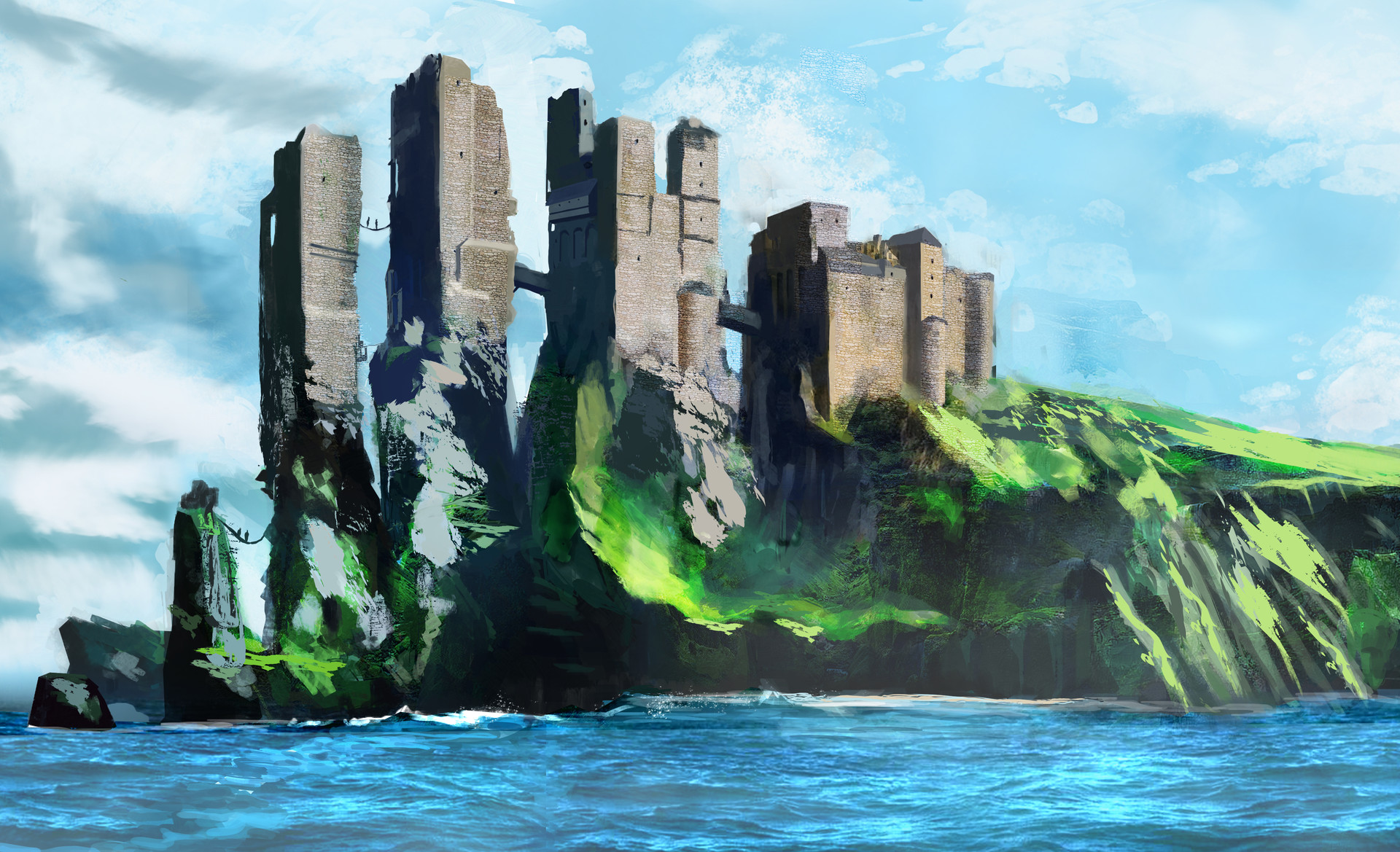 Pyke Castle By Younes Malki Imaginarywesteros