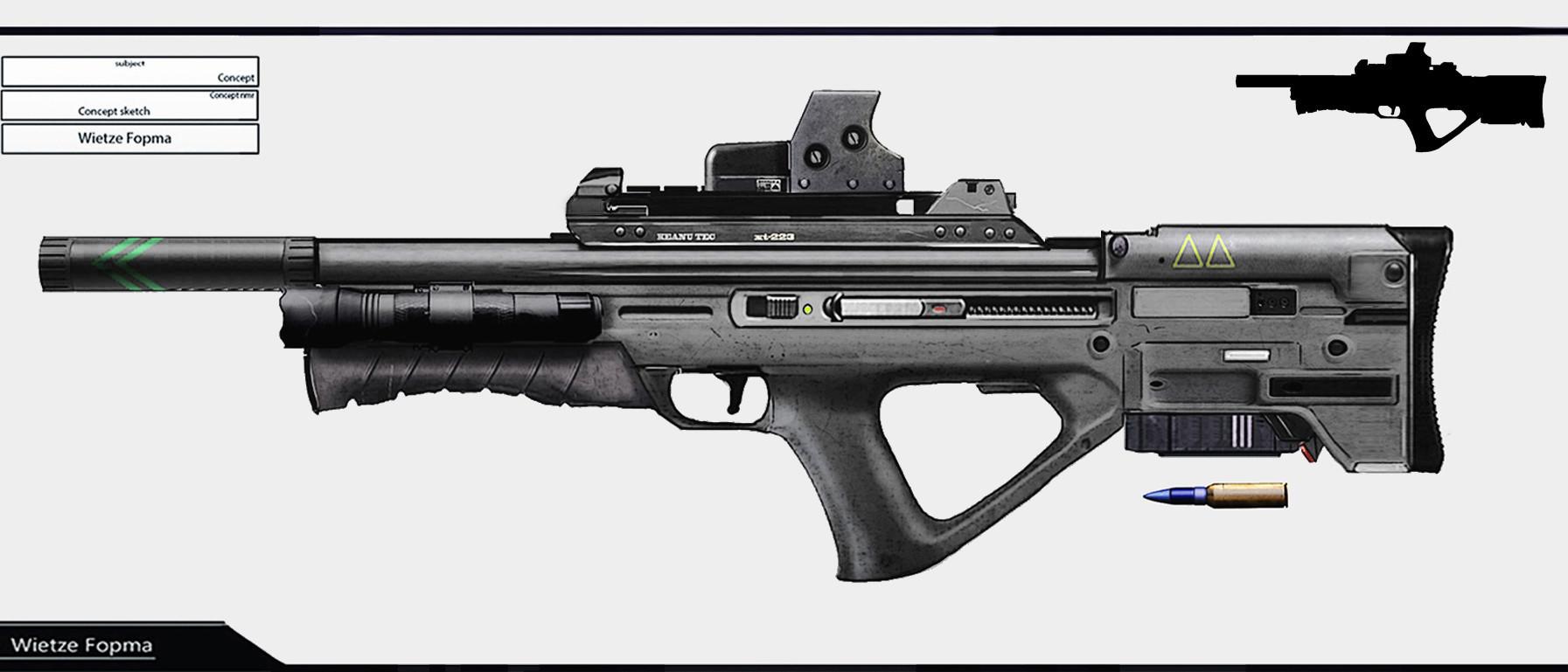 Wietze fopma bullpup rifle