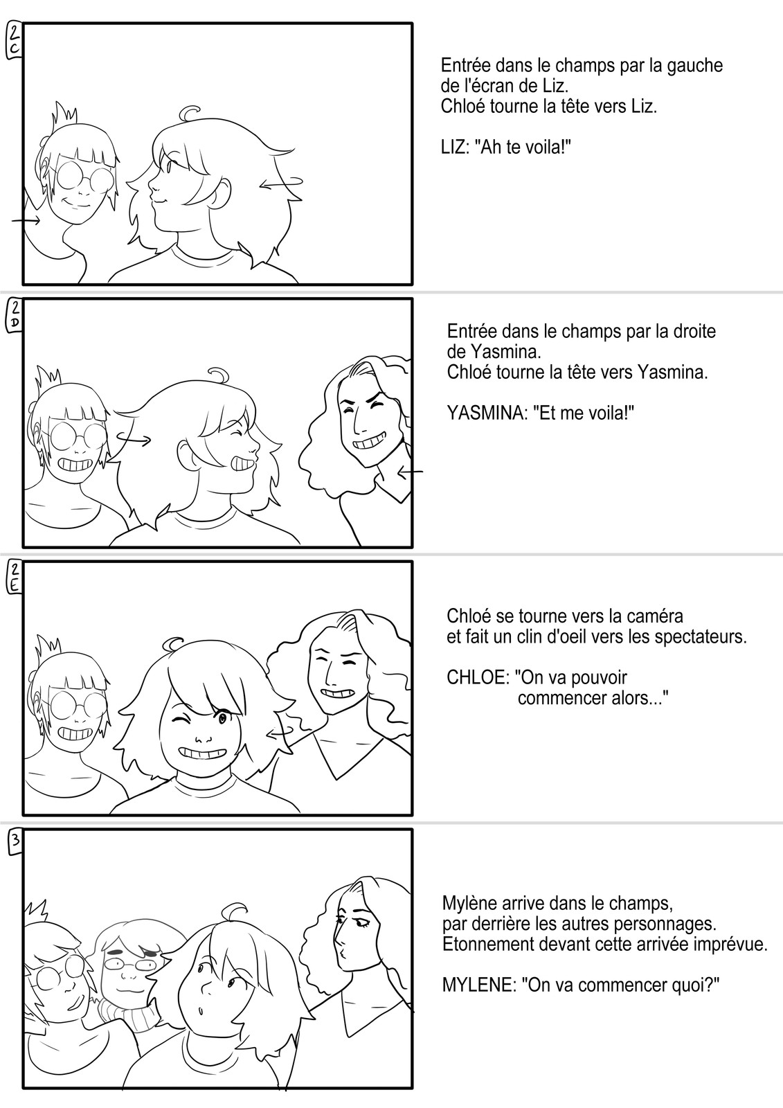 Storyboard for an animated Short - Page 2 - (In French)