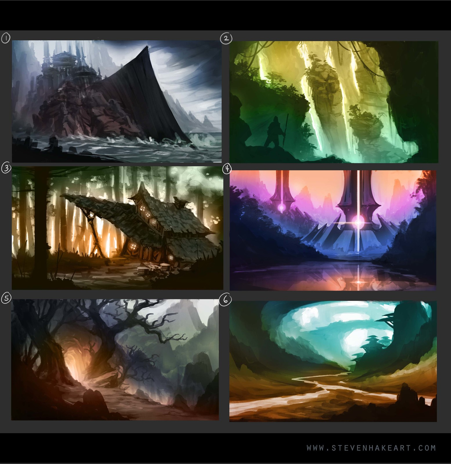 Color composition thumbnail sketches