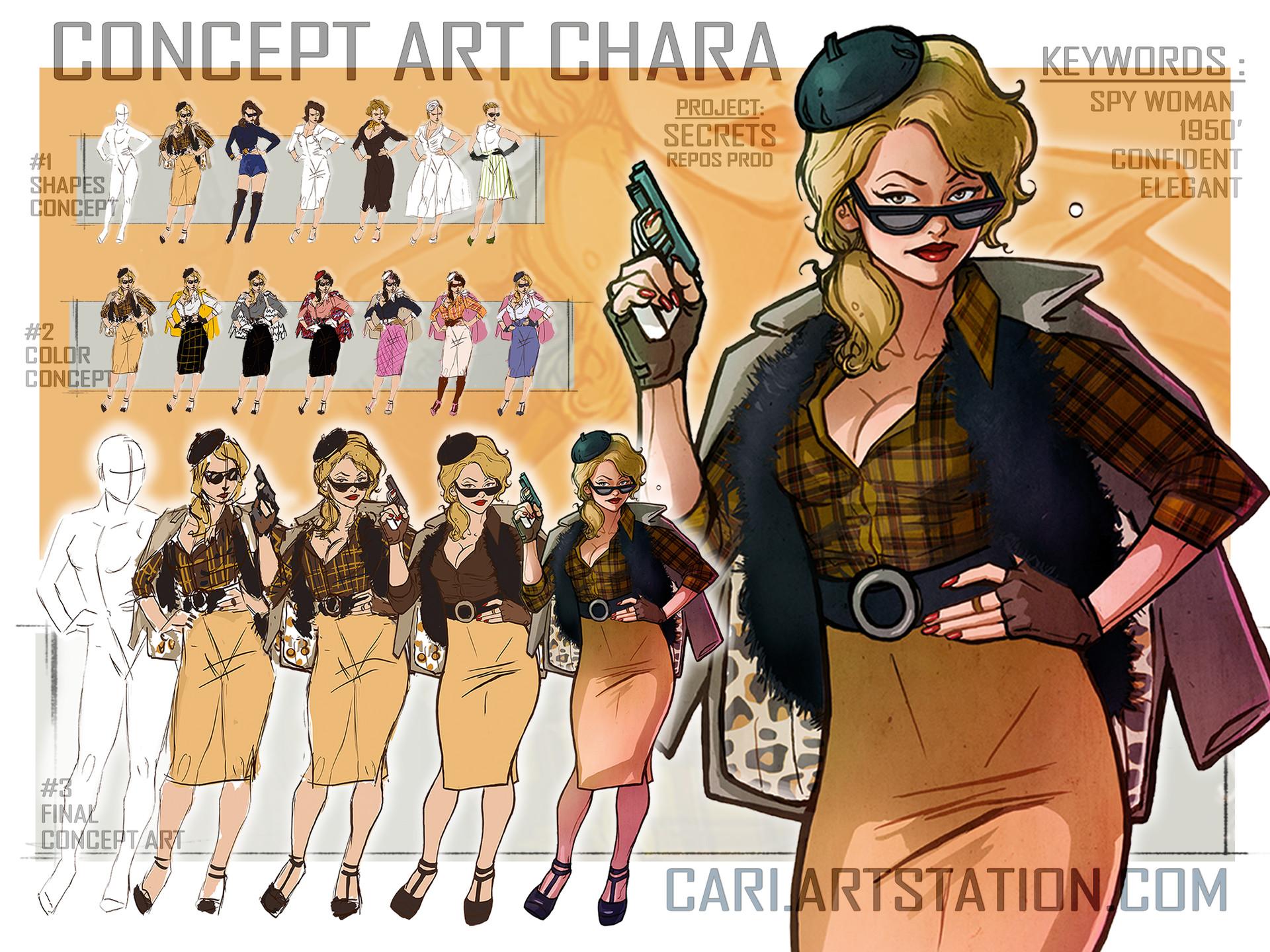 Cari art concept art spy 03