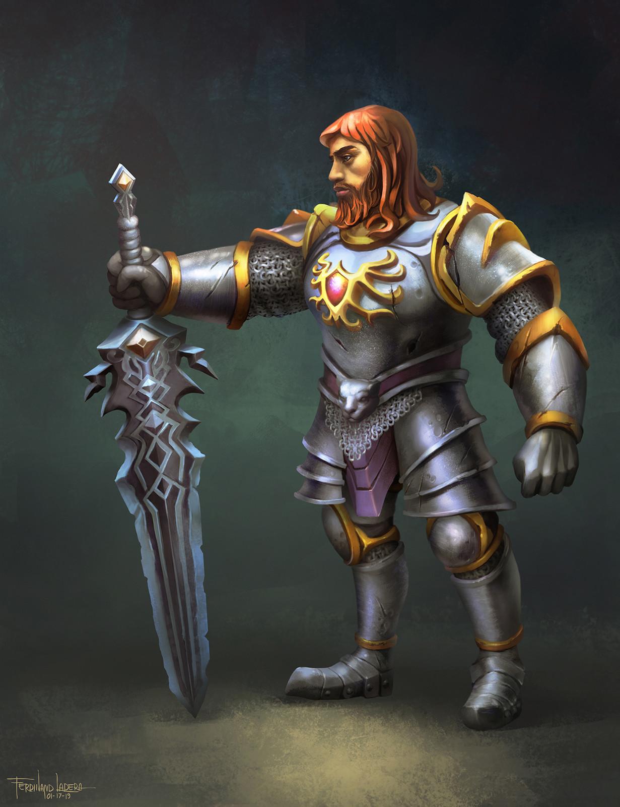Ferdinand ladera bojar human warrior conceptart