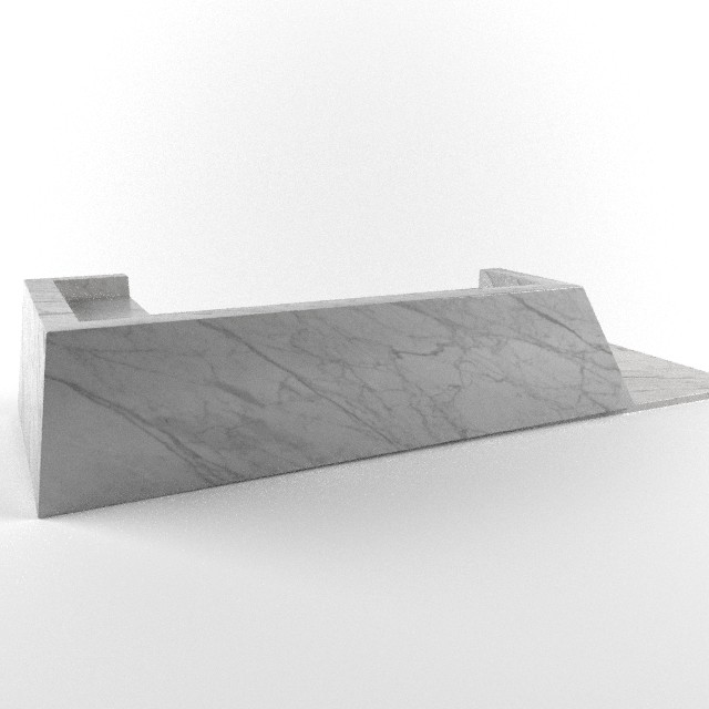 Marvin supan lobby reception desk marble