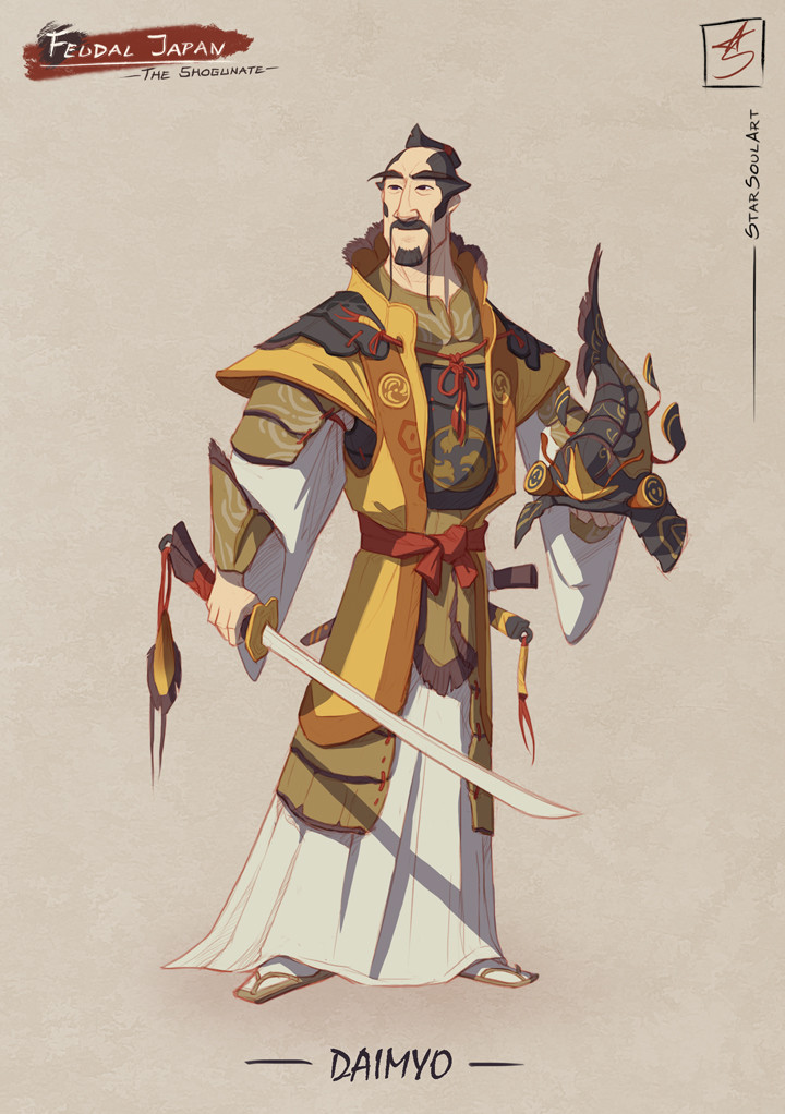 DAIMYO: Answers to the Shogun while ensures his village lives in harmony.
