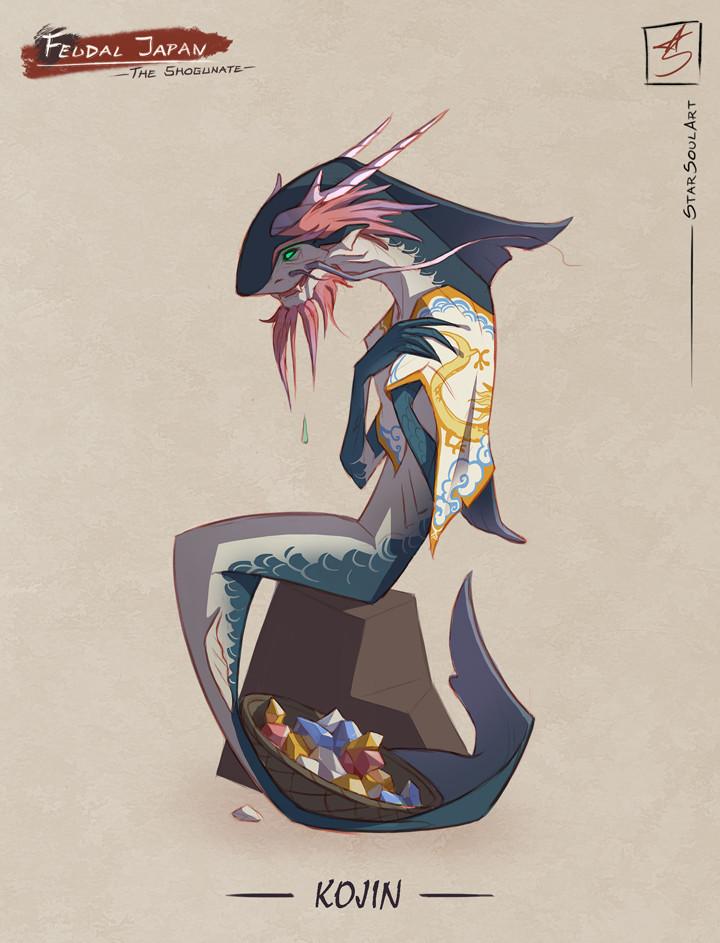 KOJIN: The gem-crying mythical merman.
