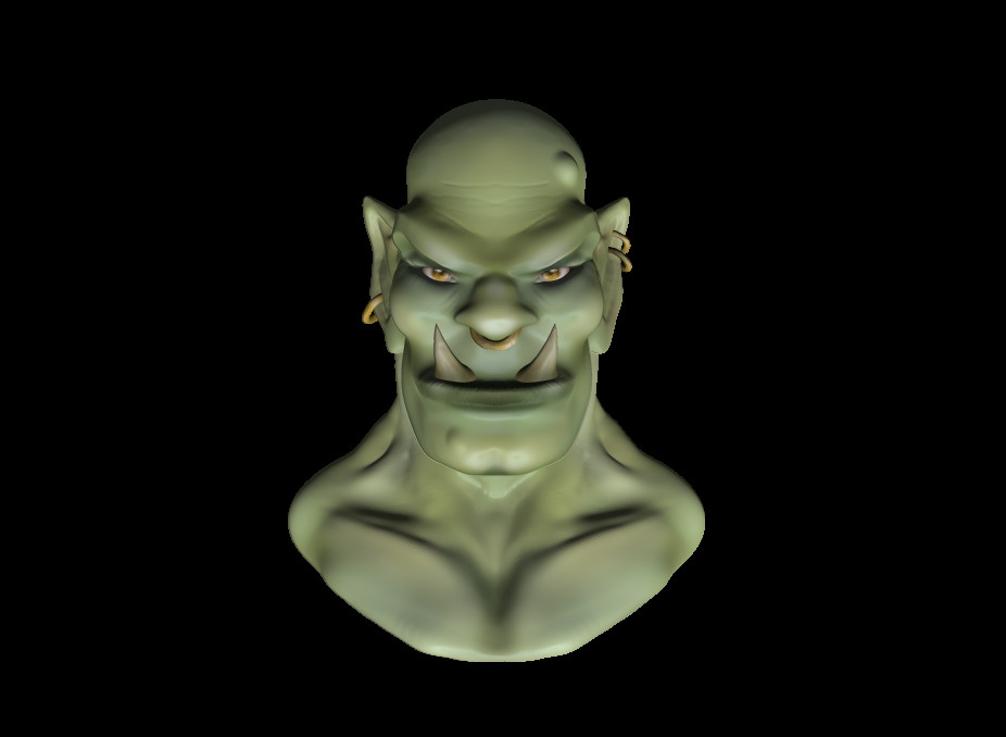 Orc Bust Speed Sculpt