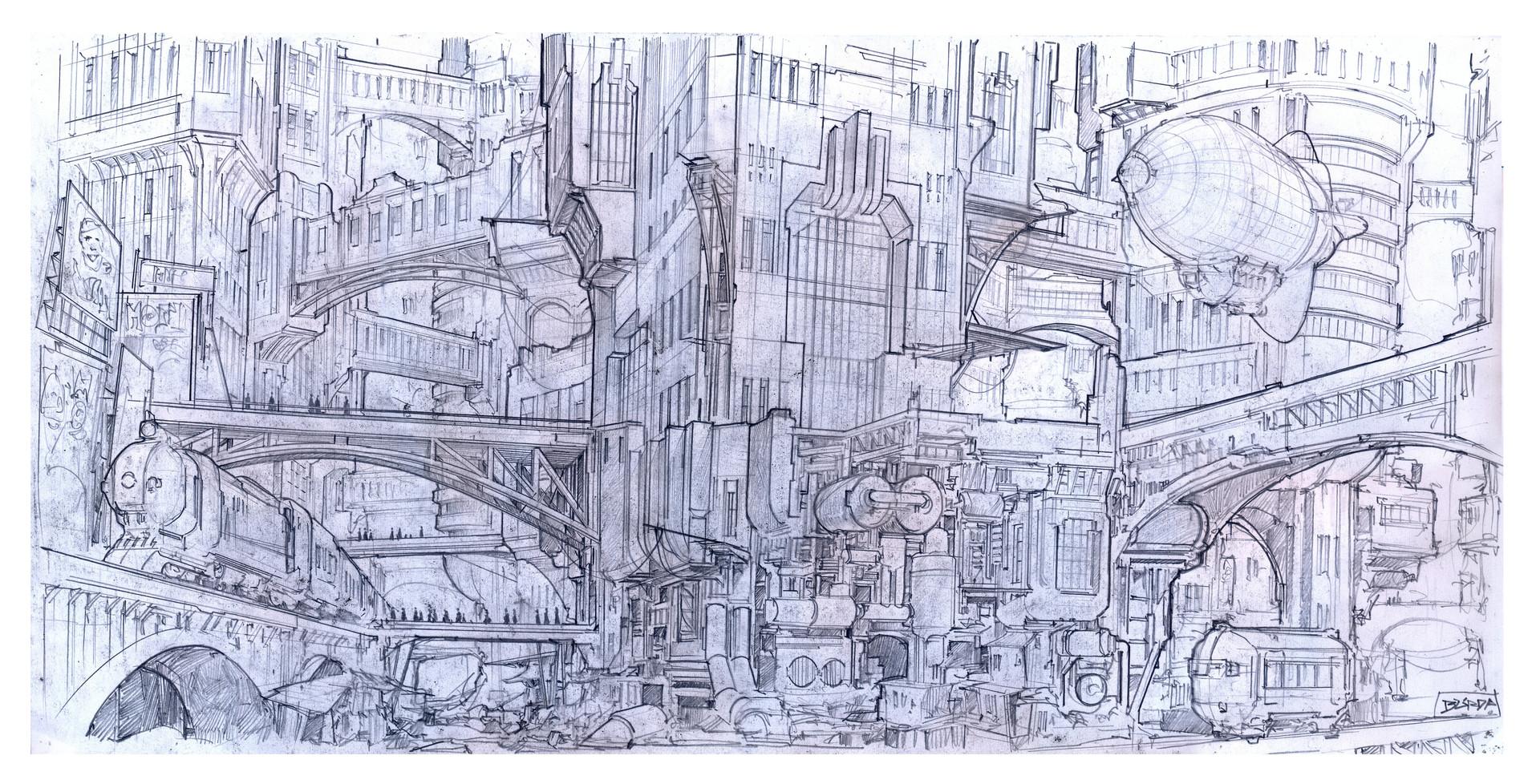 Alejandro burdisio acropolis sketch5