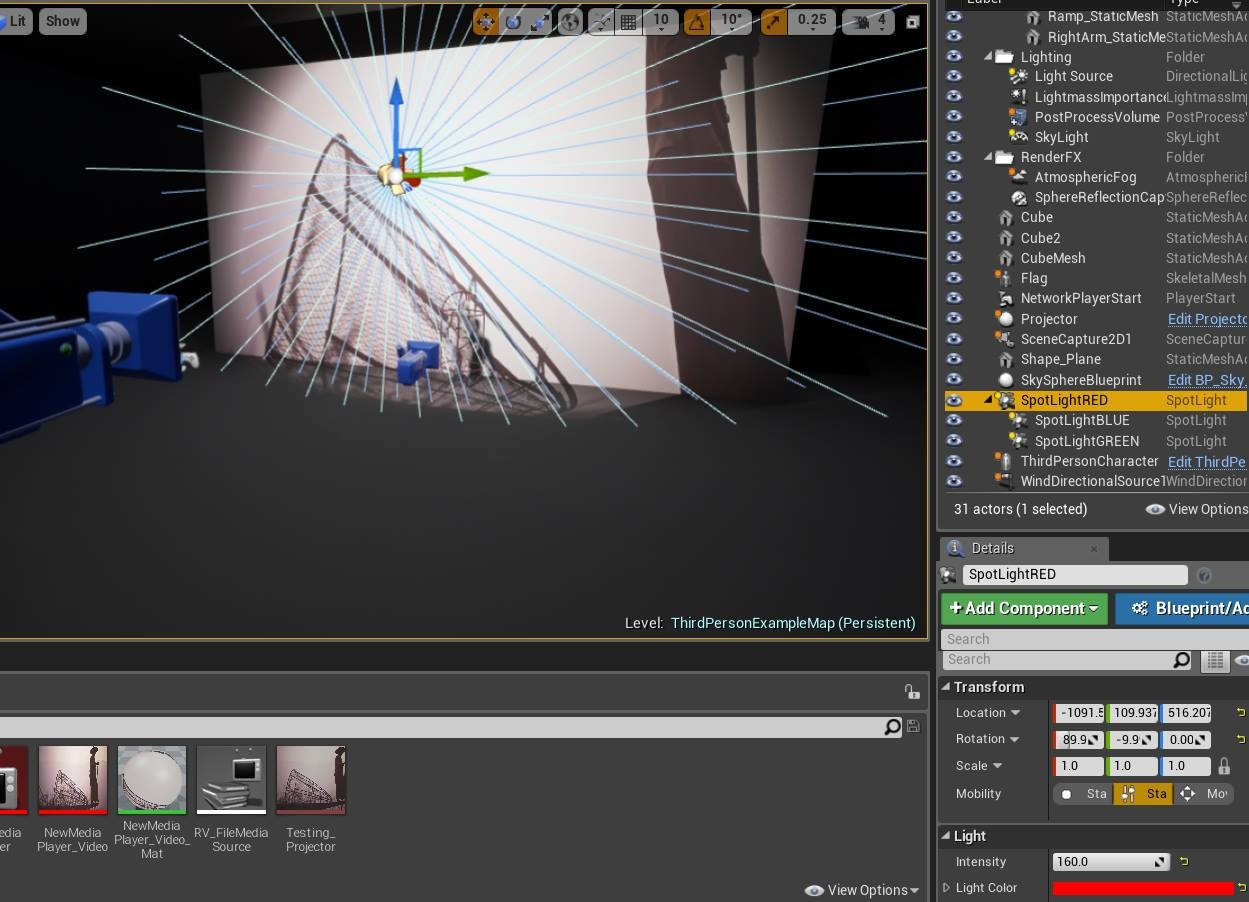 Real Time Projector Effect In Unreal Engine