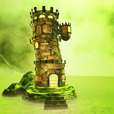Eshaan gupta castle tower artstation jazzed