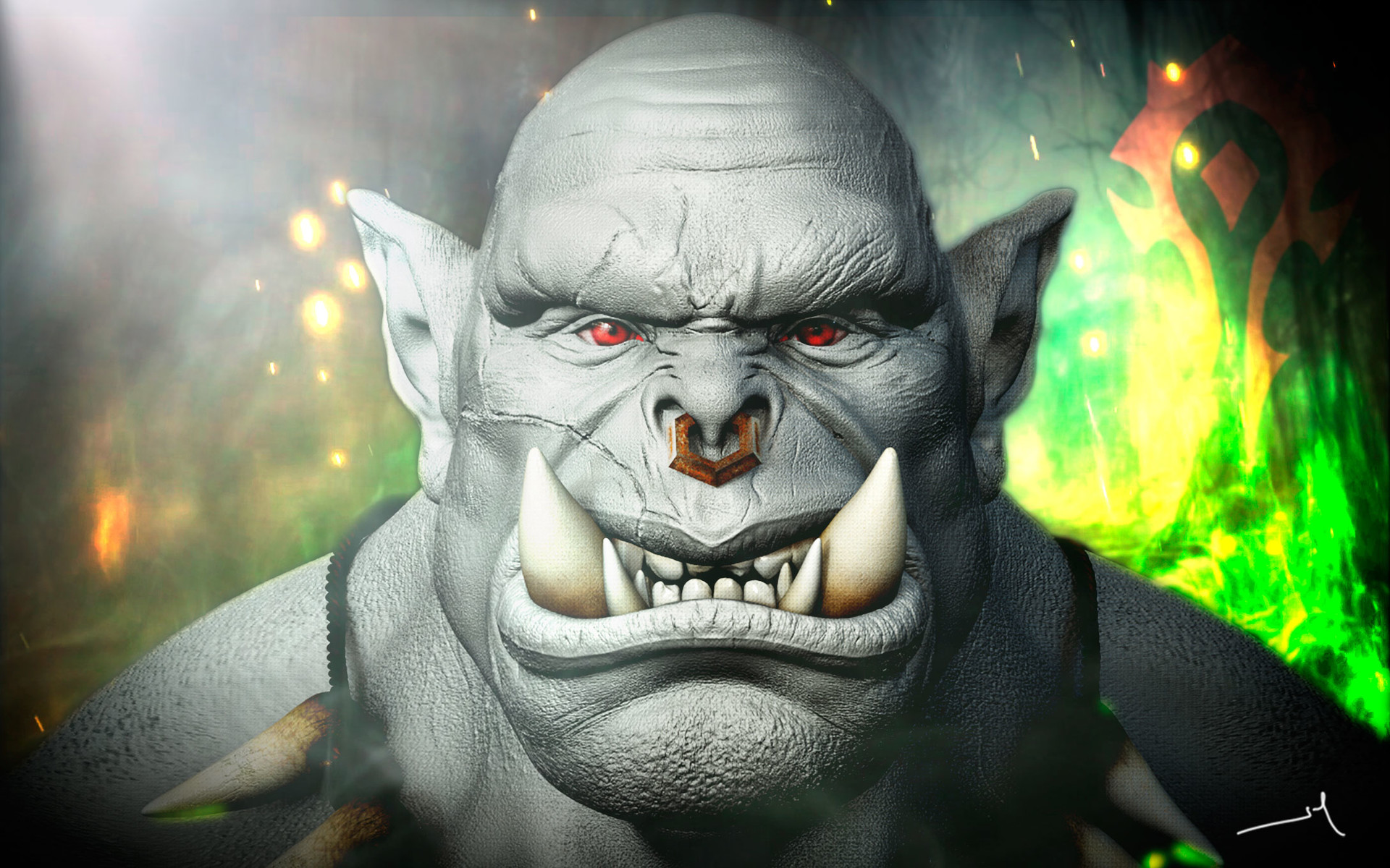 Artstation Warcraft Orc Jose Marcos