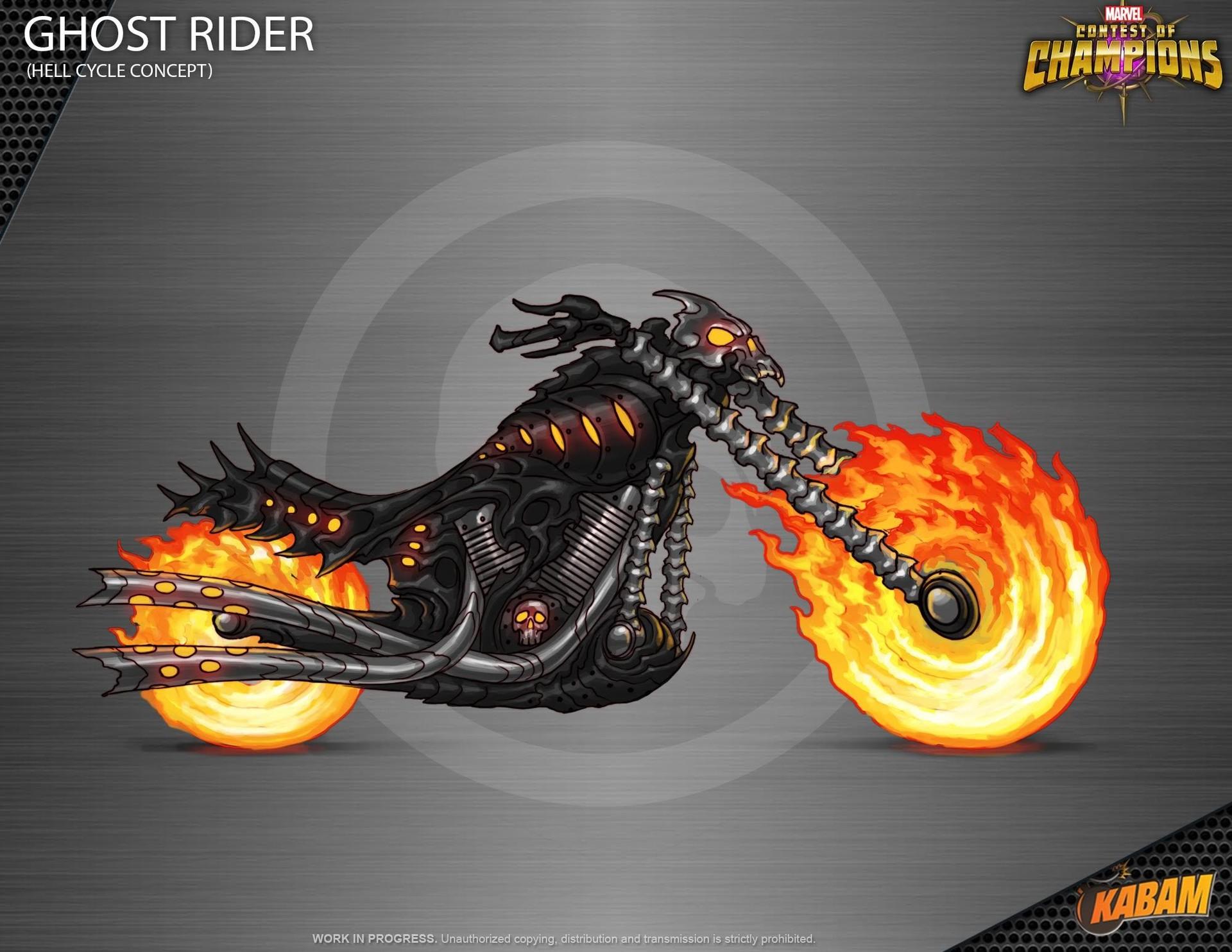 Artstation Ghost Rider Motorcycle Ricardo De La Puente