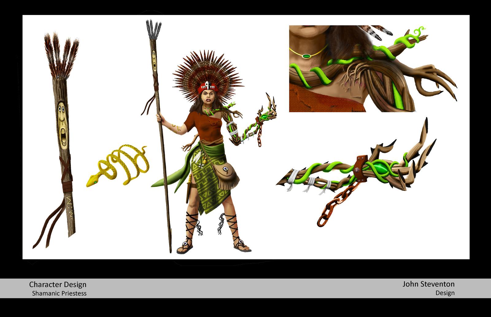 Shamanic Priestess: Character Design