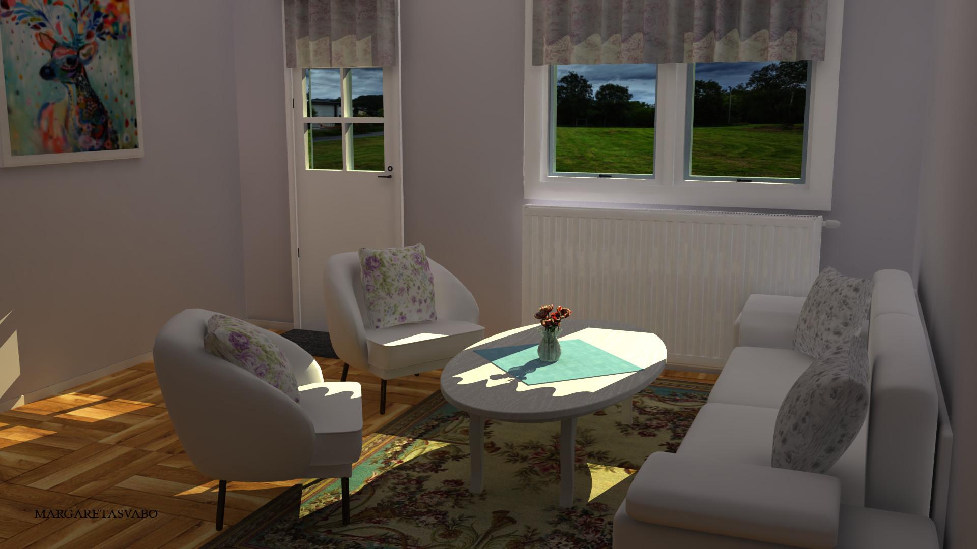 Artstation Living Room Shabby Chic Margareta Svaboe