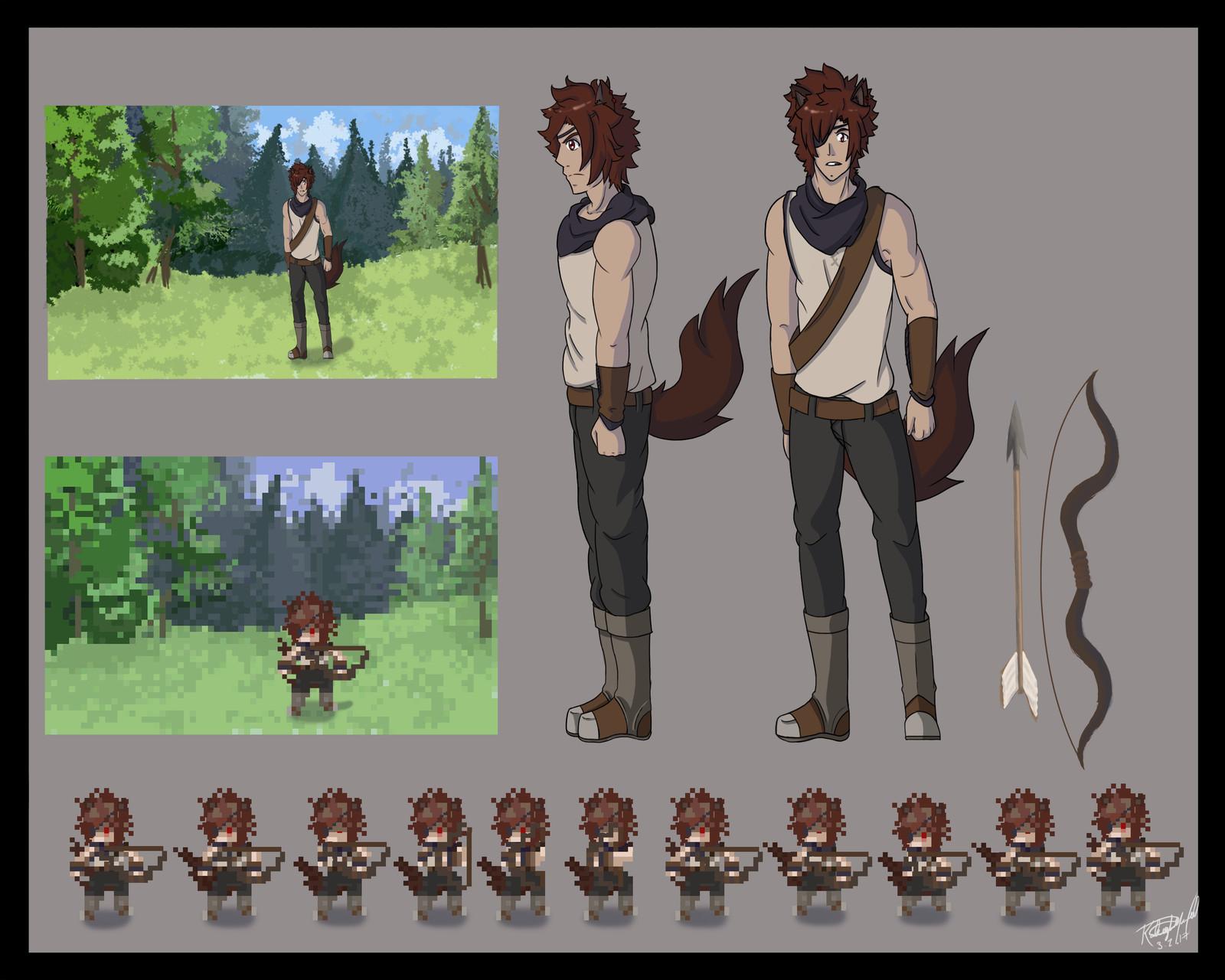 2D Game Character Sheet