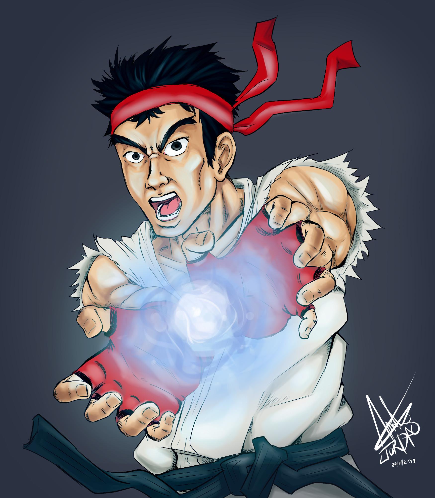 Artstation Ryu Street Fighter Fan Art Andre Nascimento