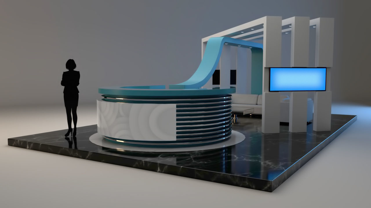 Exhibition Stand 3d Model : Baharoon baharoon exhibition stand
