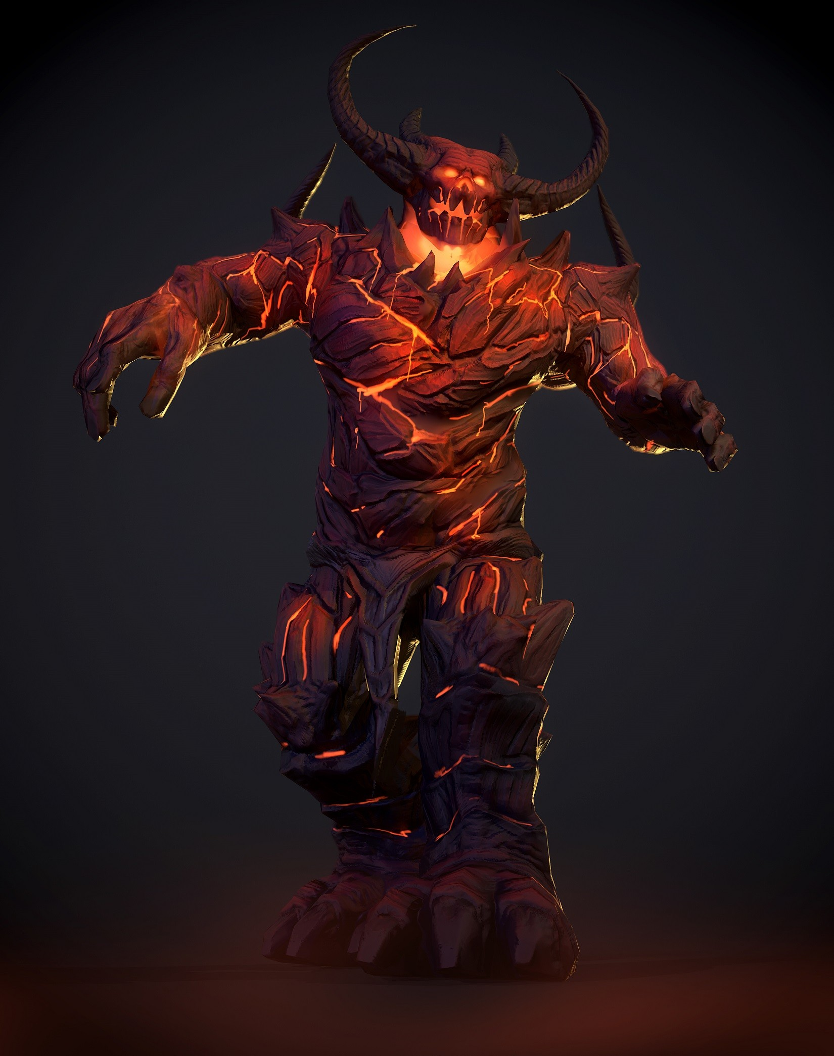 ArtStation - Lava Demon for VRchat avatar, Kevin Xu