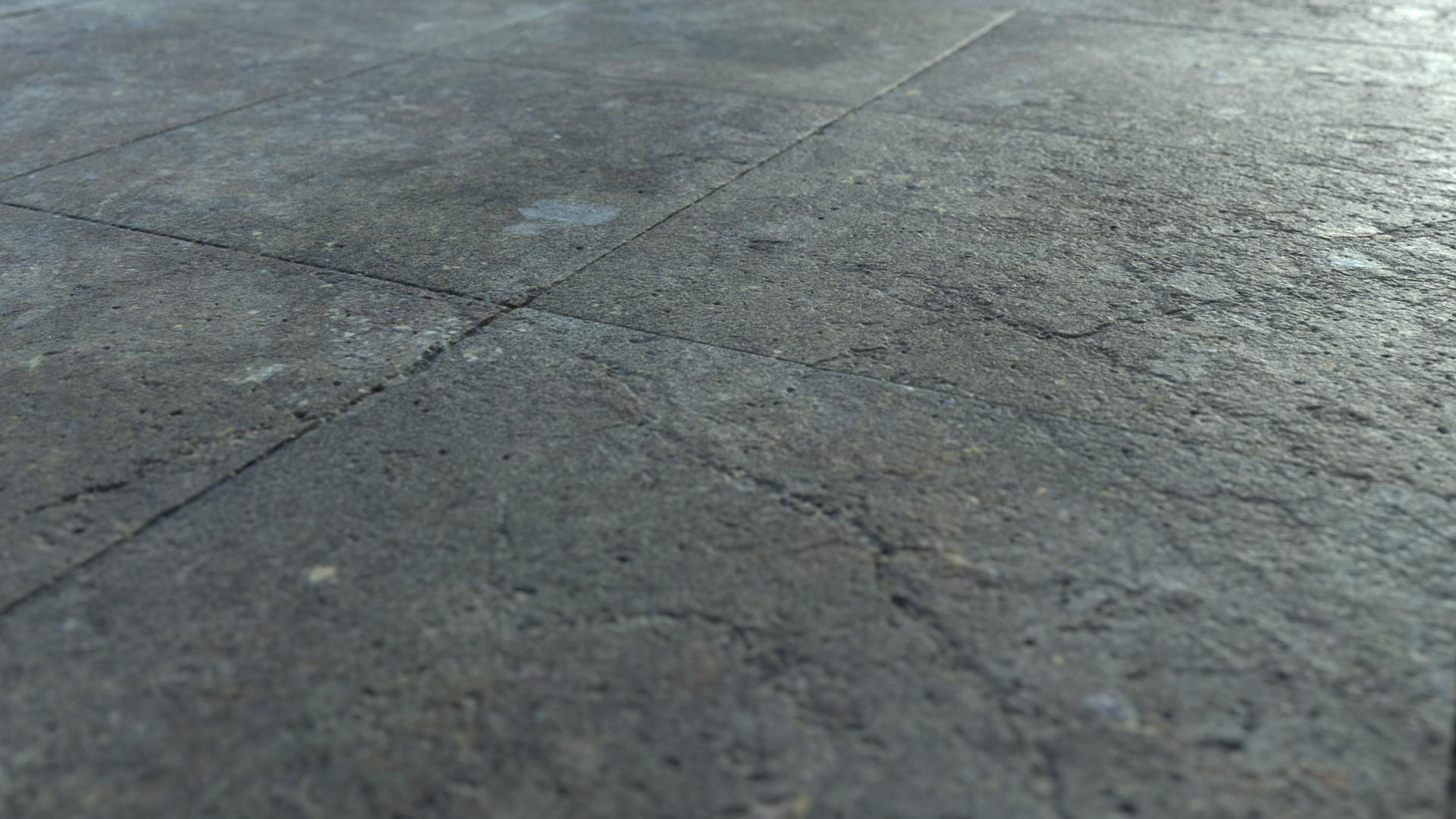 ArtStation - Craked brick floor ( free scanned texture