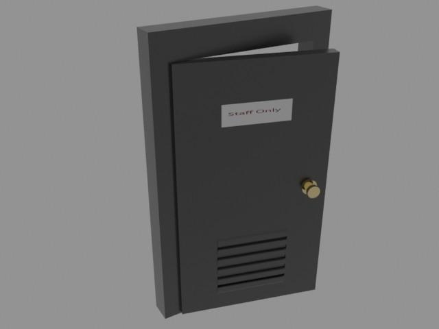 Security room door