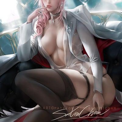 Sakimi chan lightning suit pinup sfw 03