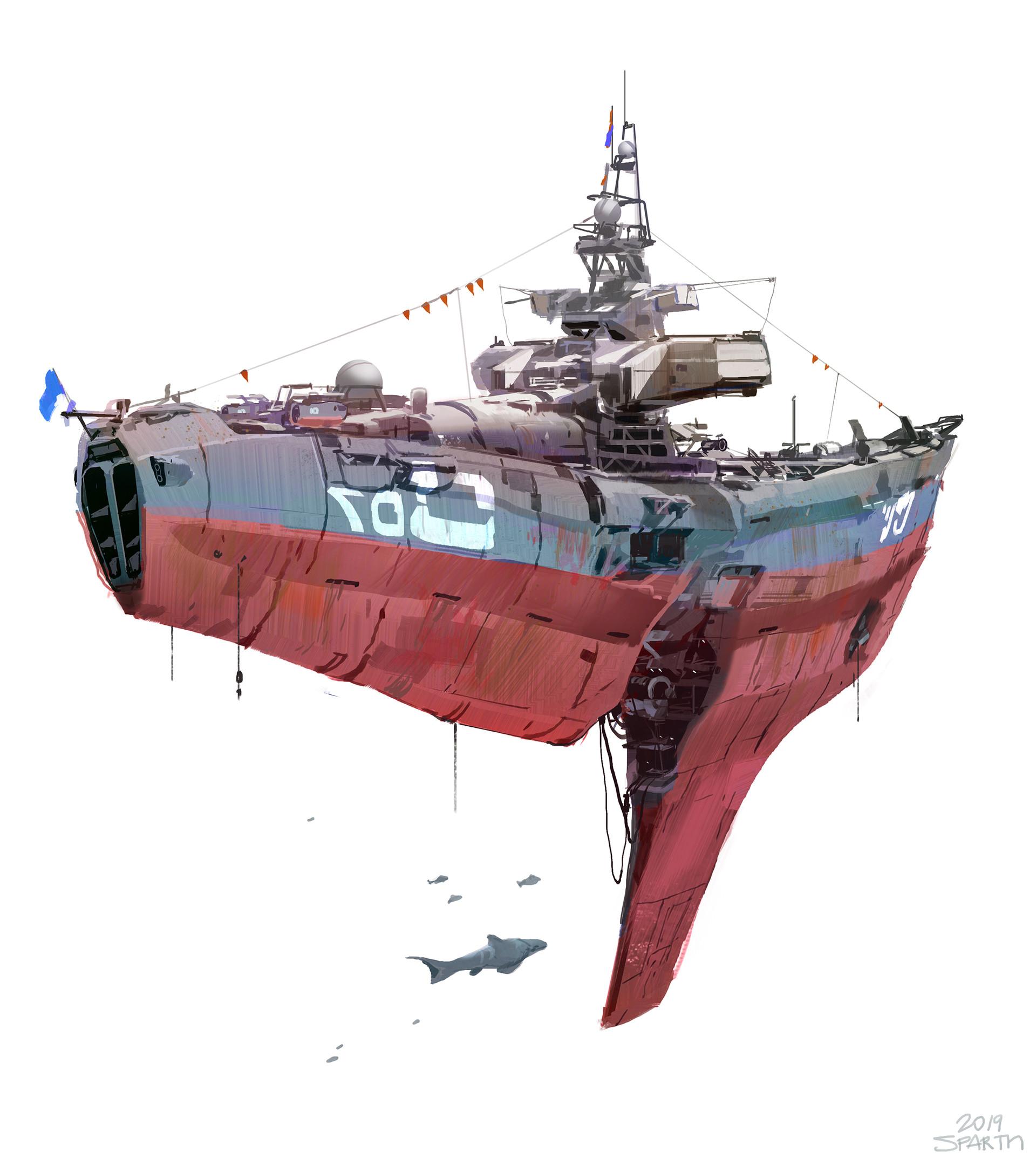 Sparth boat spaceship 01small