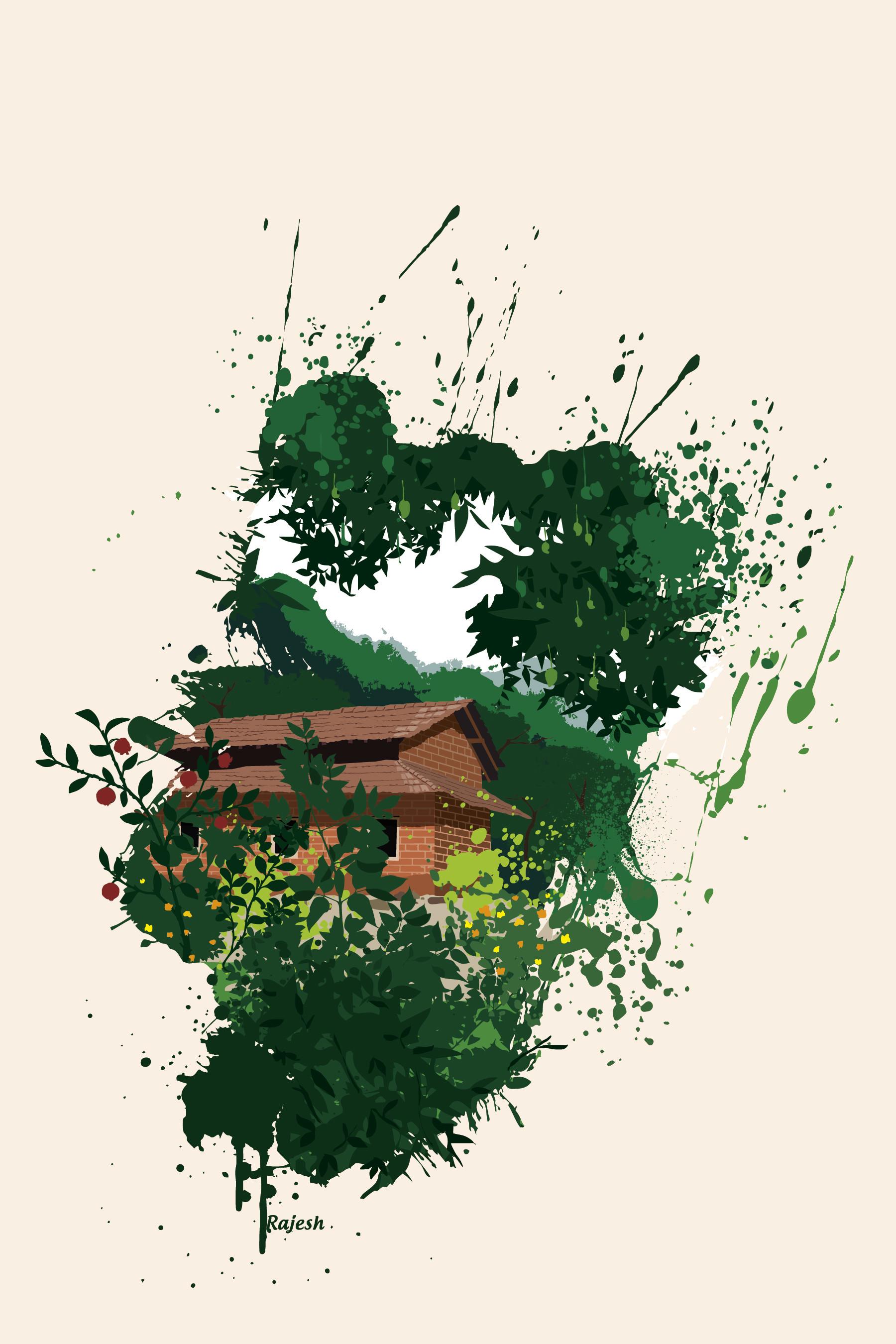 Rajesh r sawant splatter house minimal 01