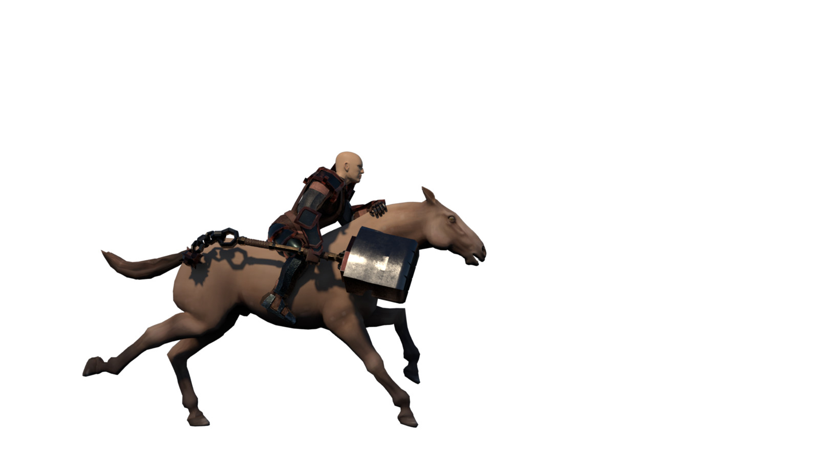 Cleric riding his horse (from a distance)