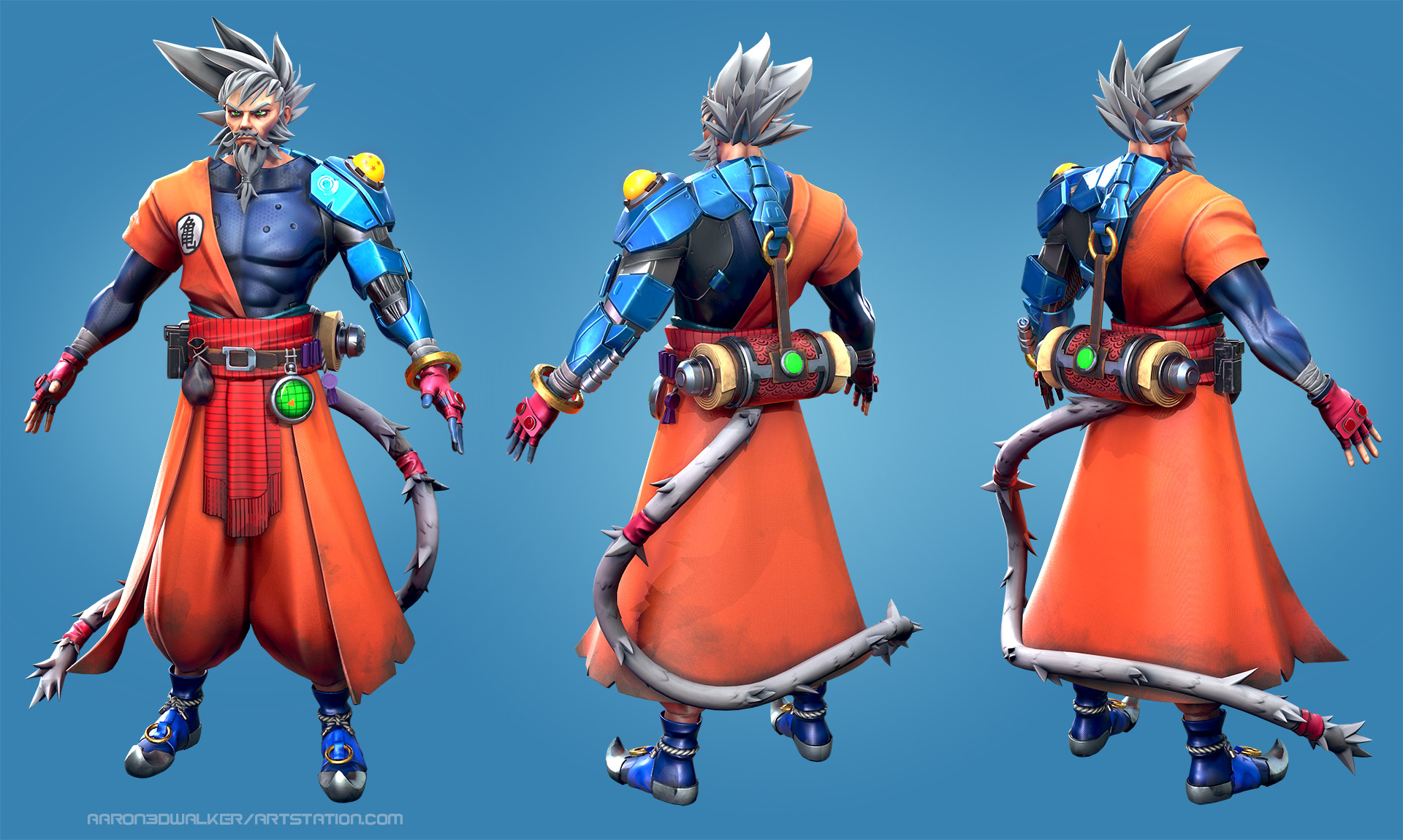 Aaron walker old goku turnaround