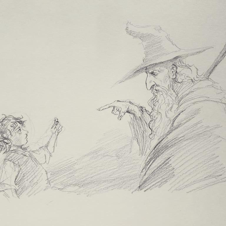 Gandalf with Frodo