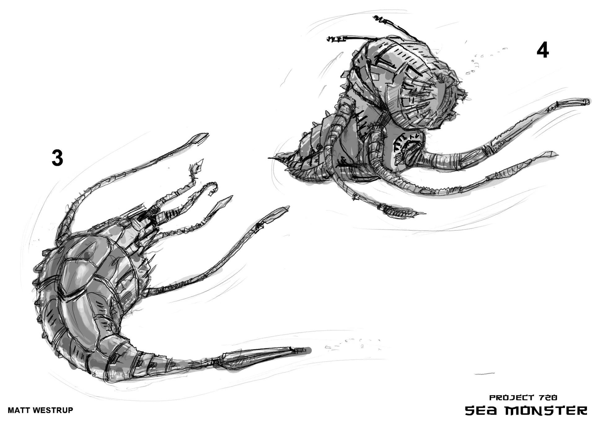 Character ark sea monster sketches 0002