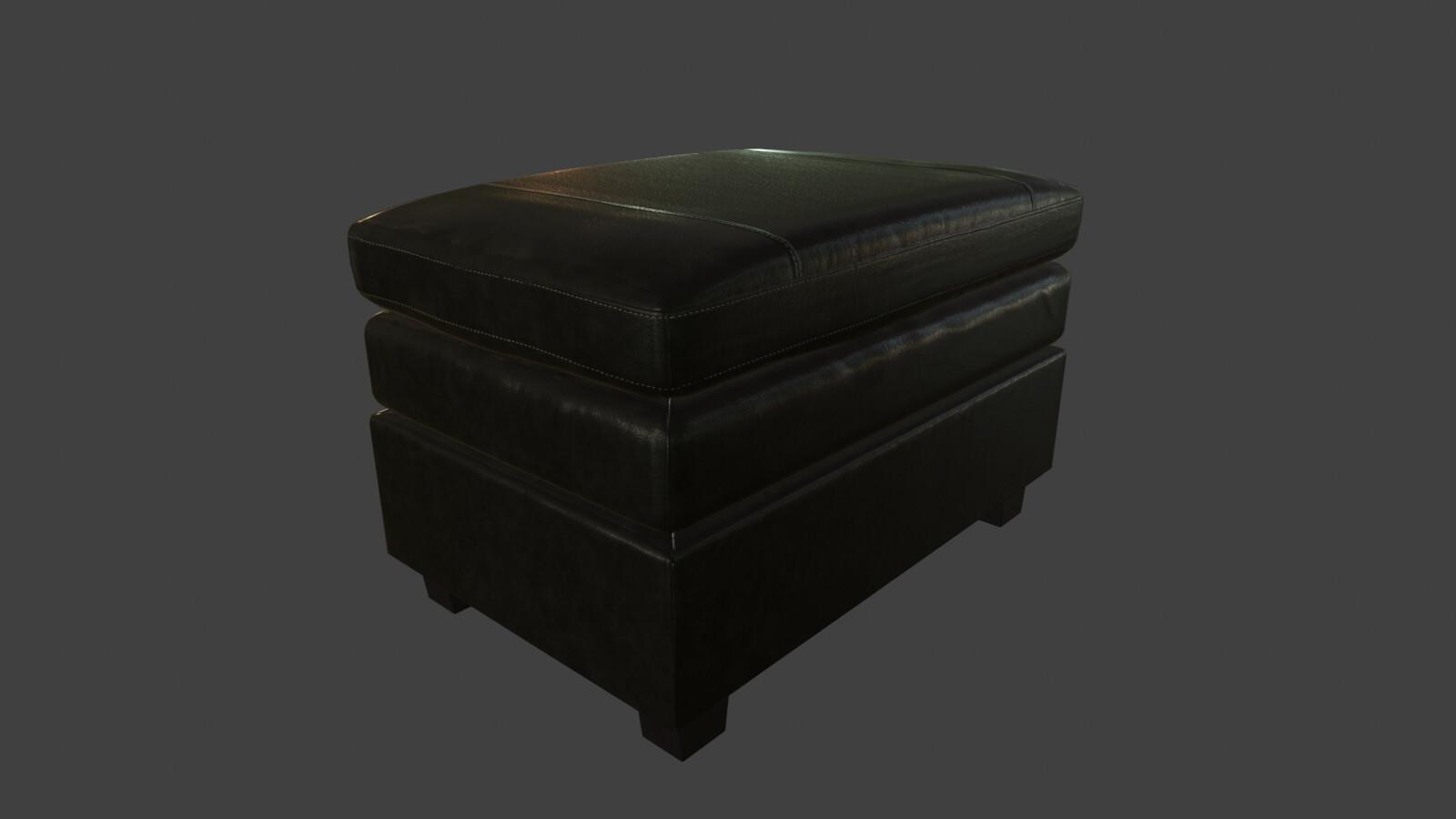 Leather taburet