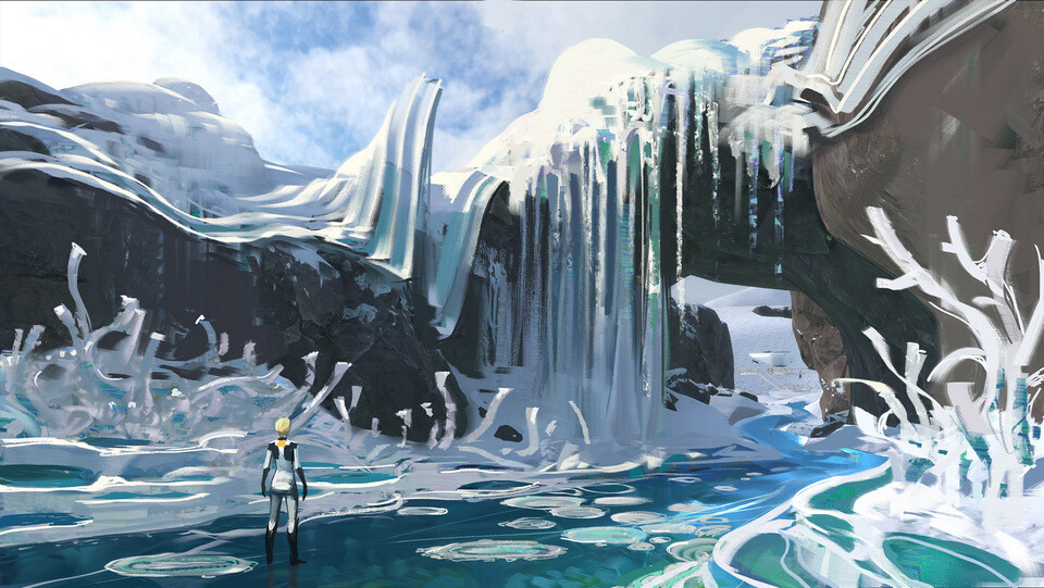 Pavel goloviy sketch frozen river