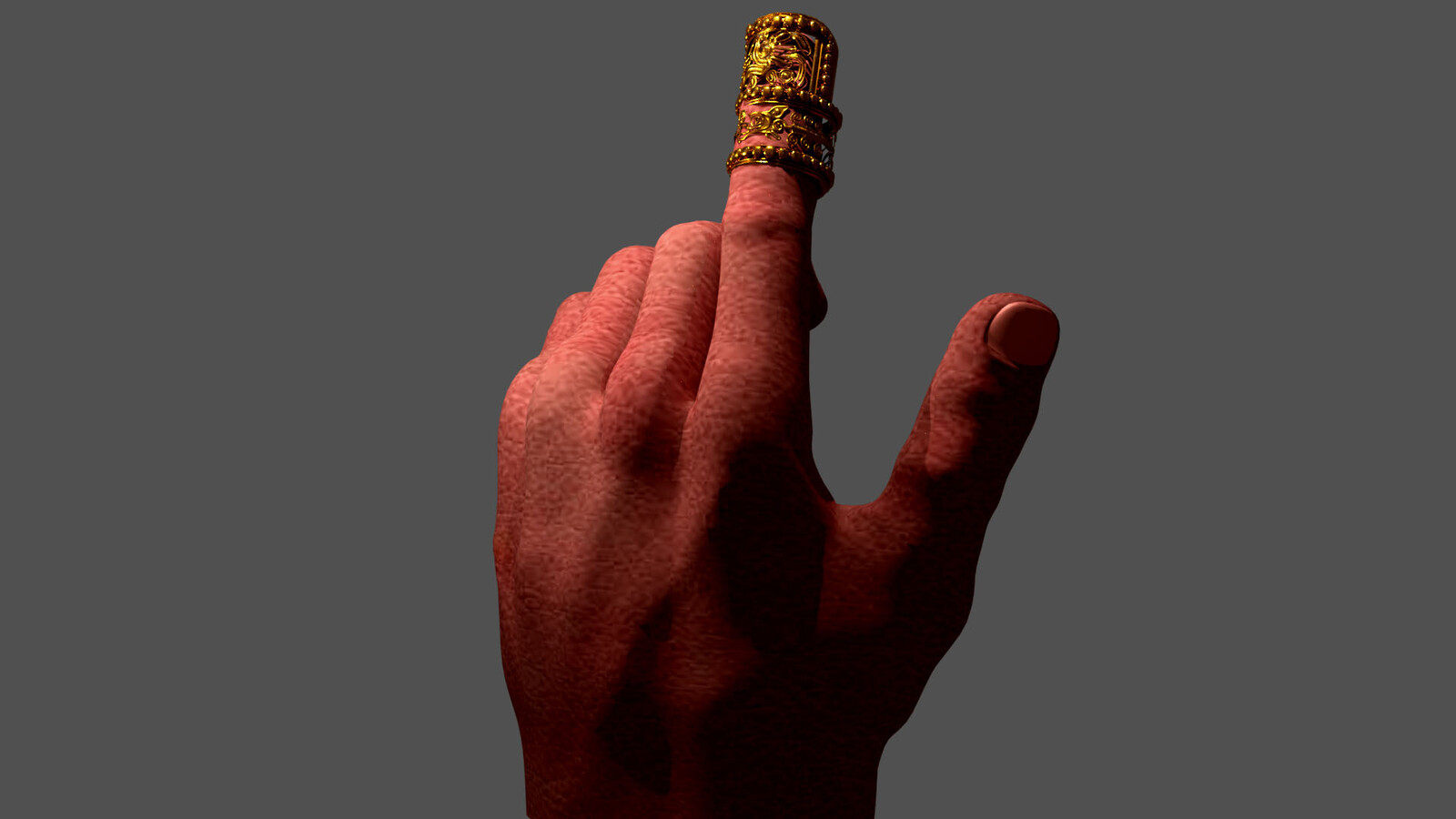 Hand with Gold Nail, Mixtec Civilization, 14th-15th