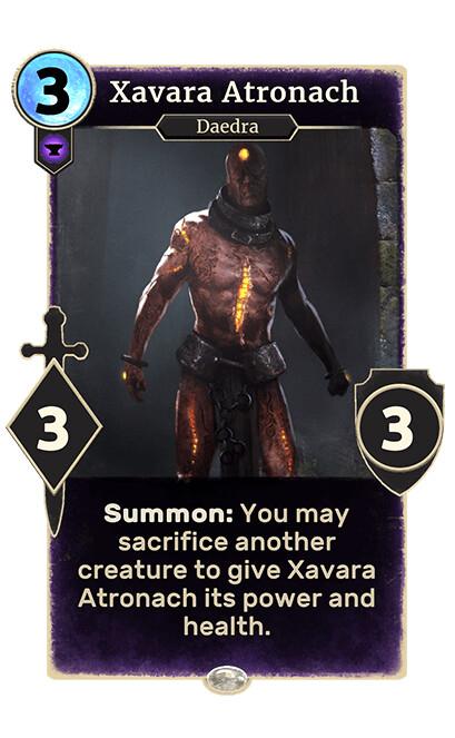 Xavara Atronach for The elder scroll legends