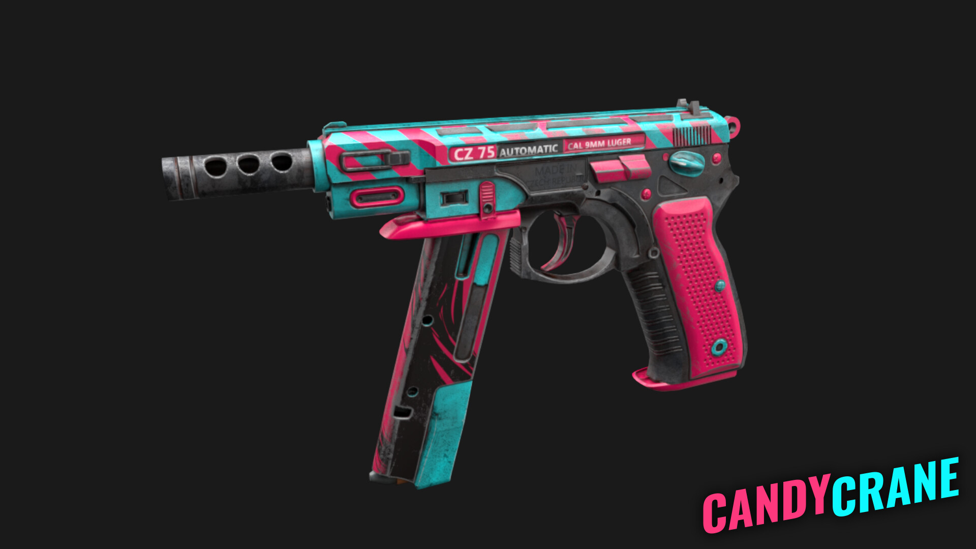 ArtStation - CZ-75 Candy Crane - CS:GO Skin, Victor Hugo Borges