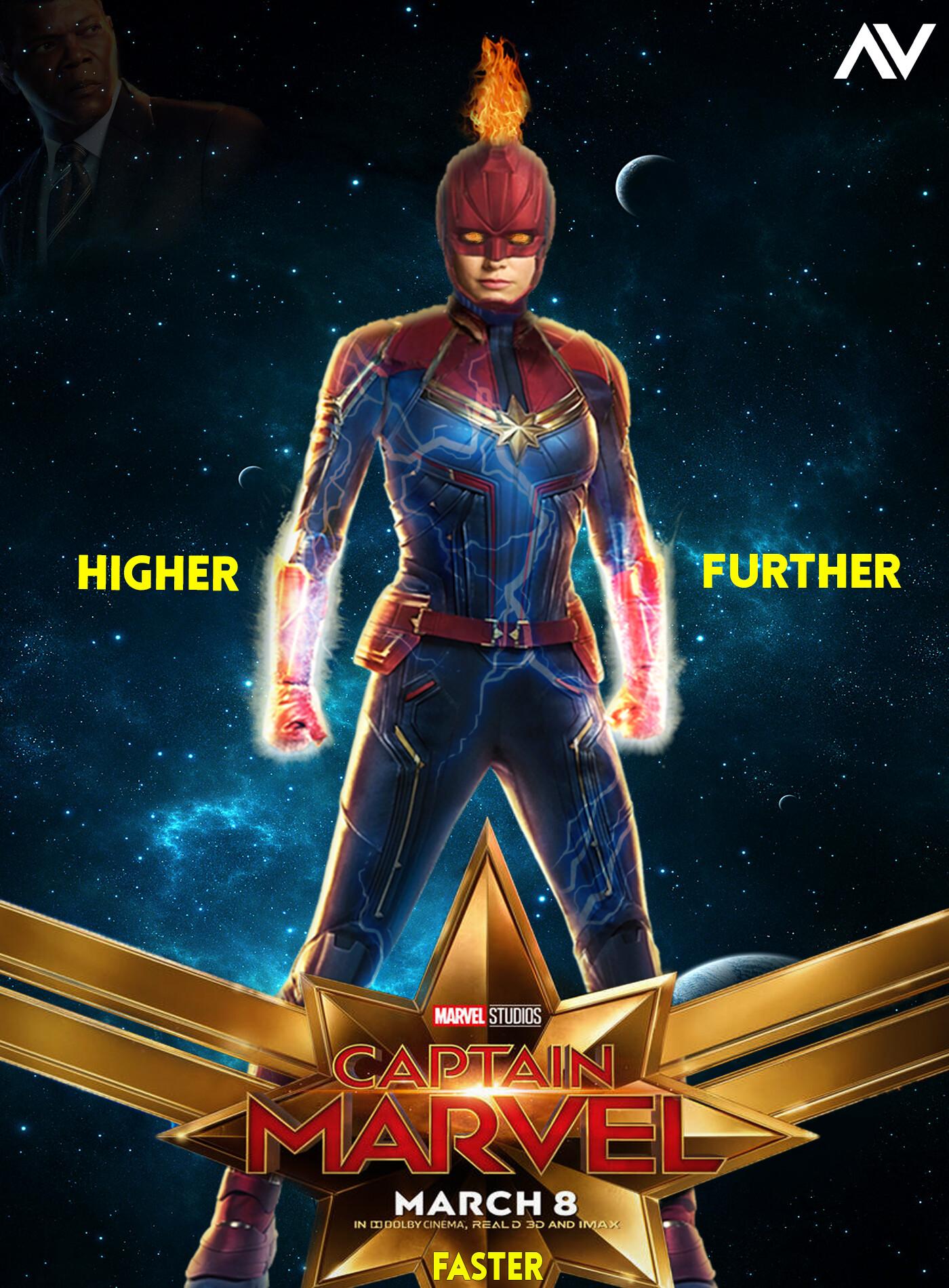 artstation - captain marvel #higher #further #faster 🔥 ⚡, vindz