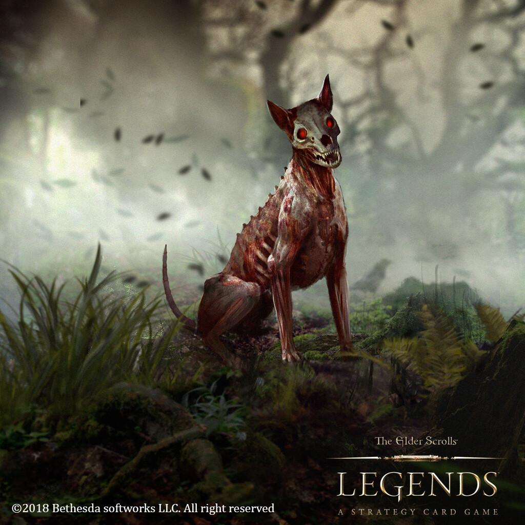 Skinned Hound for The elder scroll Legends