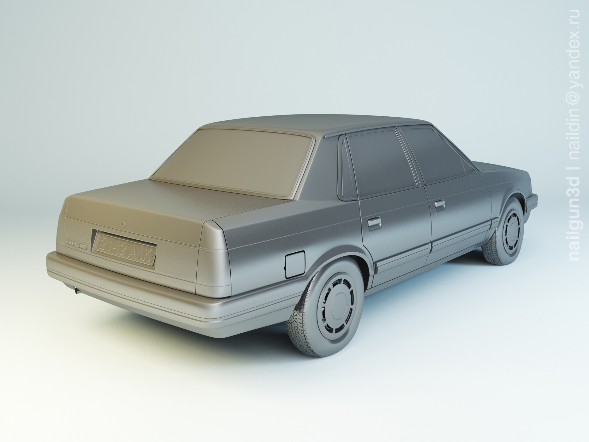 Nail khusnutdinov als 240 006 azlk 2142 moskvitch modelling 1