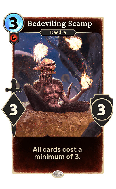 Bedeviling Scamp made for the card game The Elder Scroll Legends