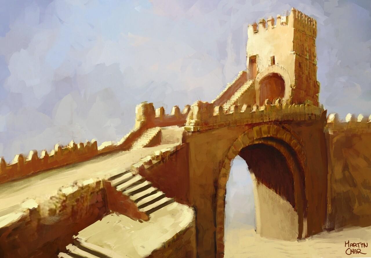 Artstation Desert City Gate Martin Cmar