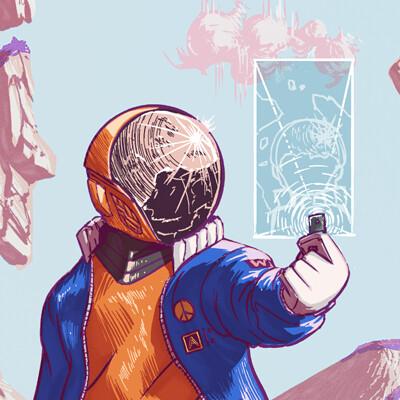 Aziz mbye a space selfie small