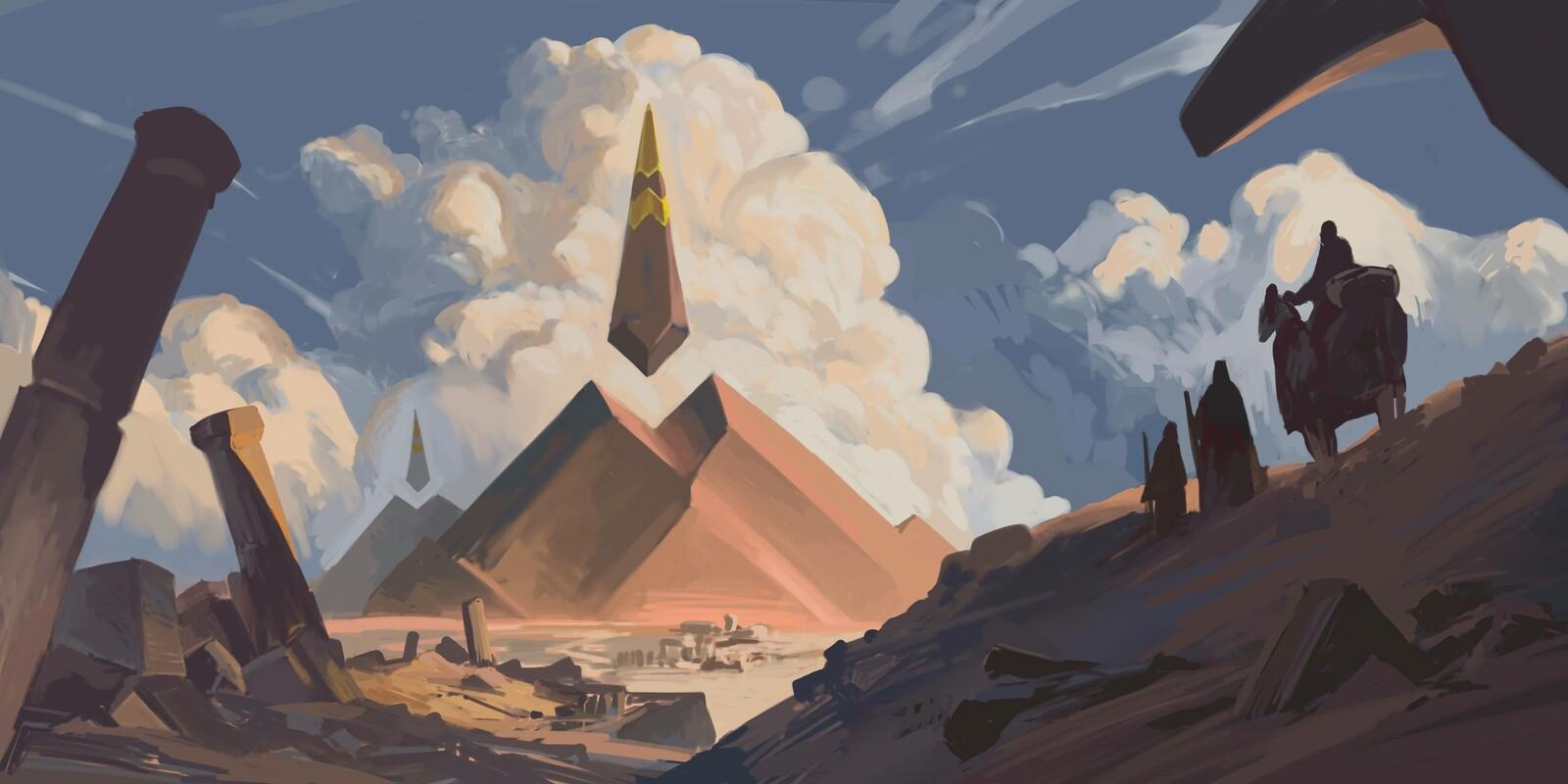 Round brush pyramid