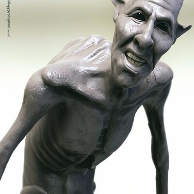 Surajit sen dewfoot creature pose sculpt surajitsen jan2019