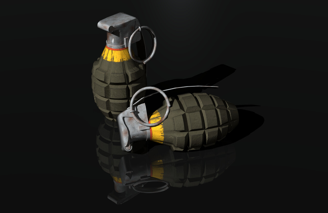 World War II - era U.S. Mk 2 Grenade