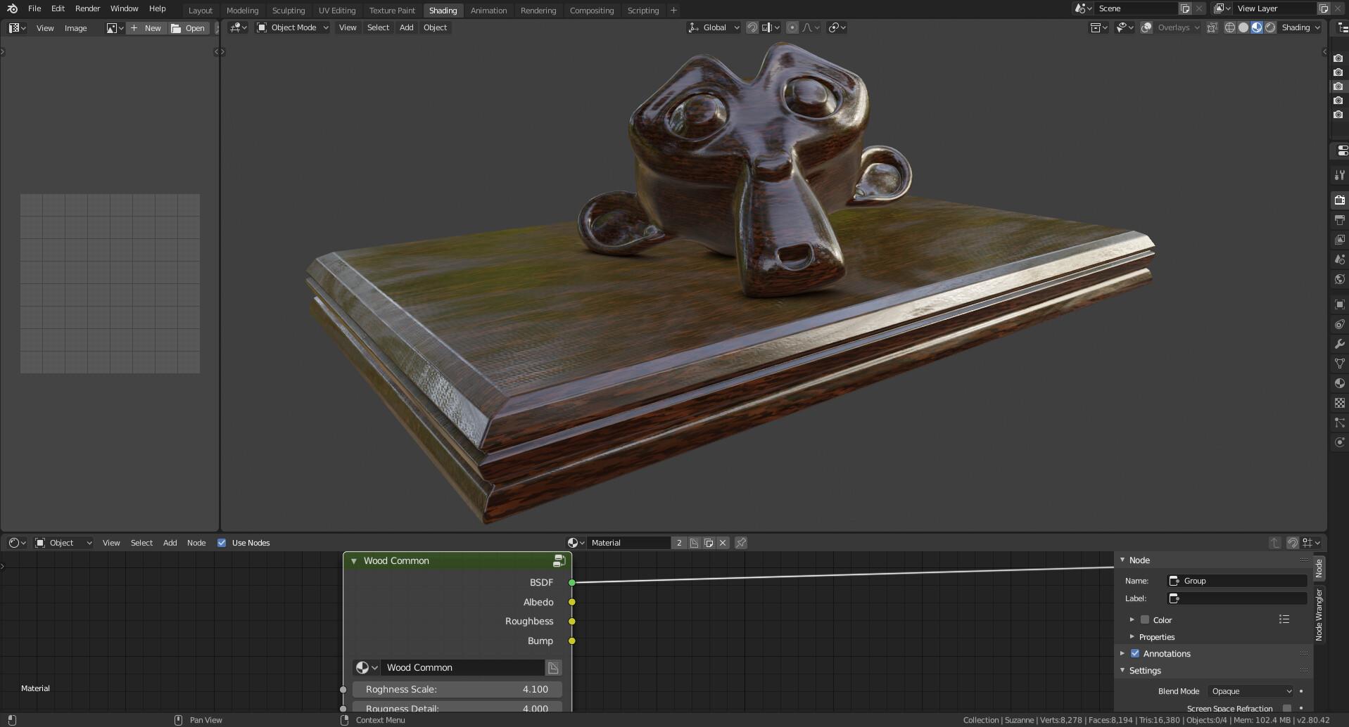 ArtStation - Procedural Wood Shader Material Blender Eevee