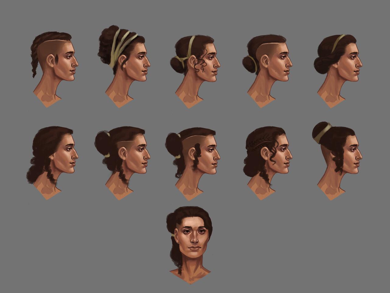 Elizabeth ware athena5 hair