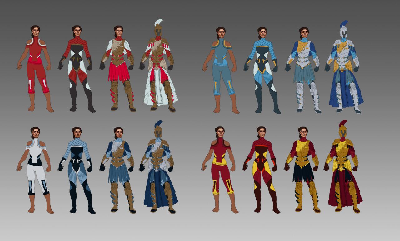 Elizabeth ware athena6 color variations