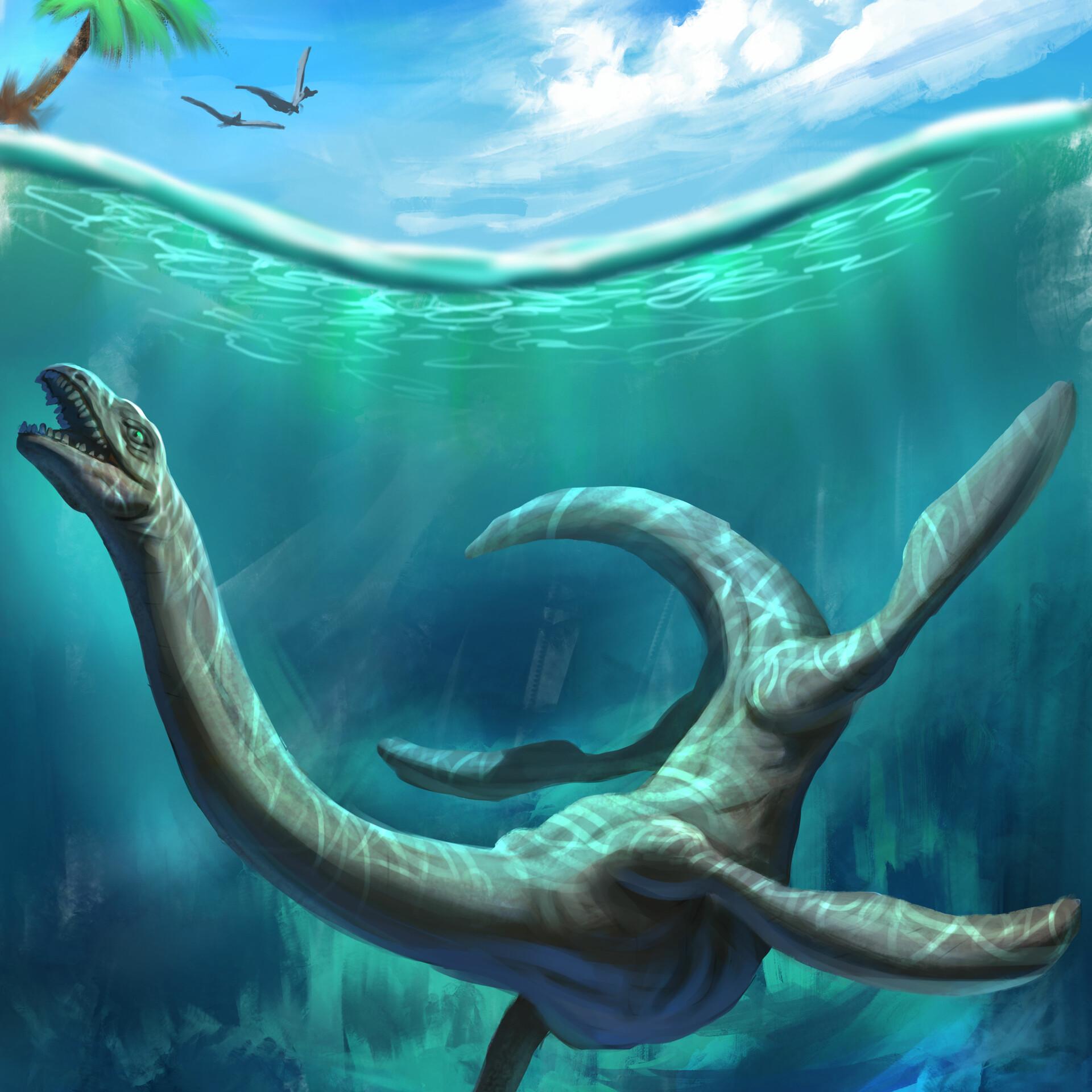 девочки, только картинки водяной динозавров этом чуть ранее