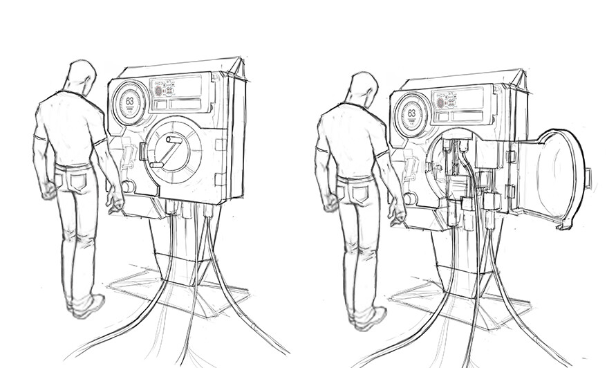 Early ideation sketches