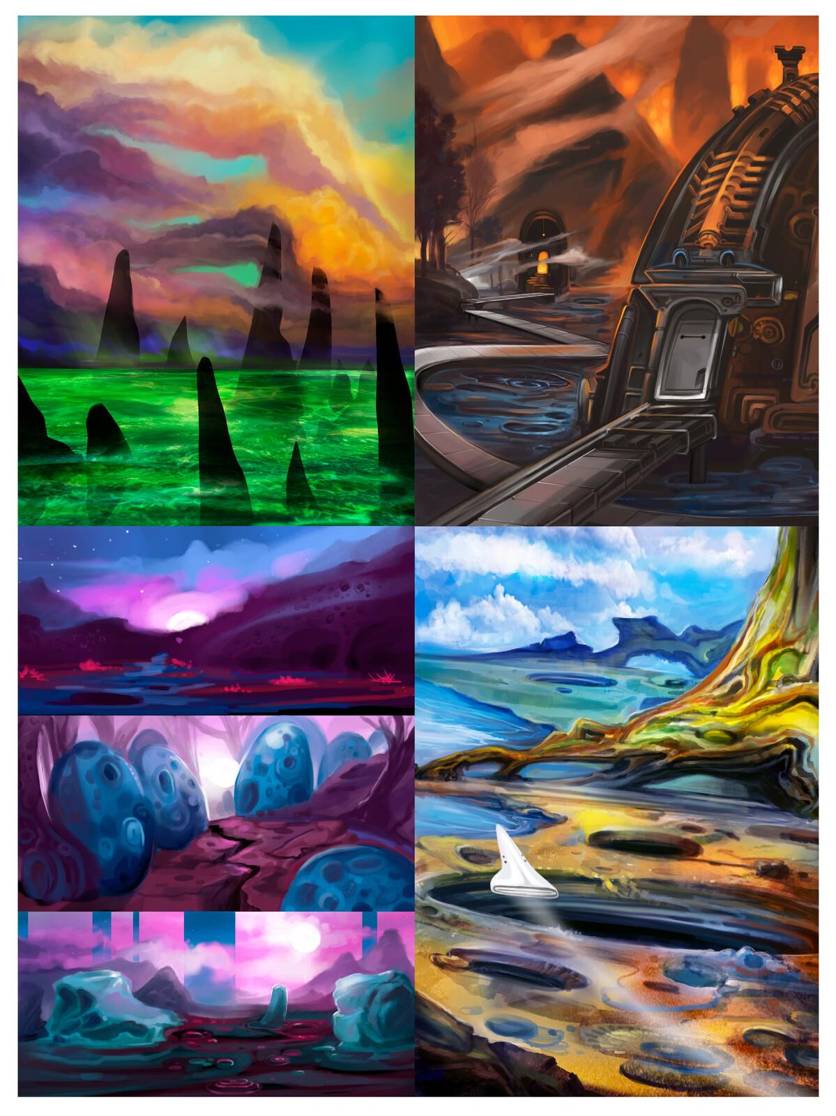 Alien Environments - Concept Art